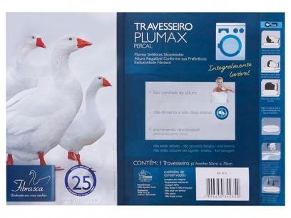 Travesseiro de Plumas Sintéticas - Fibrasca 50x70cm com as melhores condições…