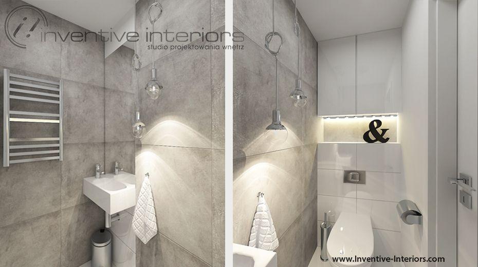 Projekt łazienki Inventive Interiors Biel Szarość I