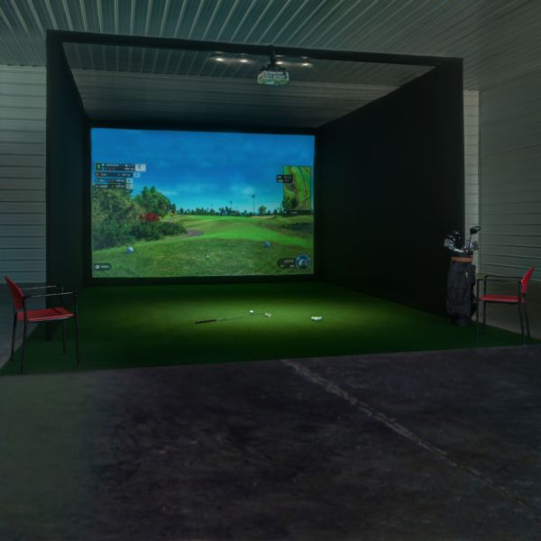 Pro Golf Enclosure With Impact Screen Impact Screen Golf Impact Screen Golf Simulator Room
