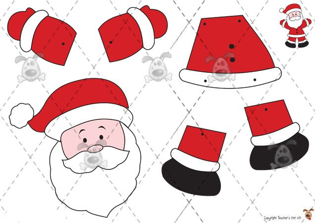 printable pictures of santa claus - Printable Santa Claus Pictures