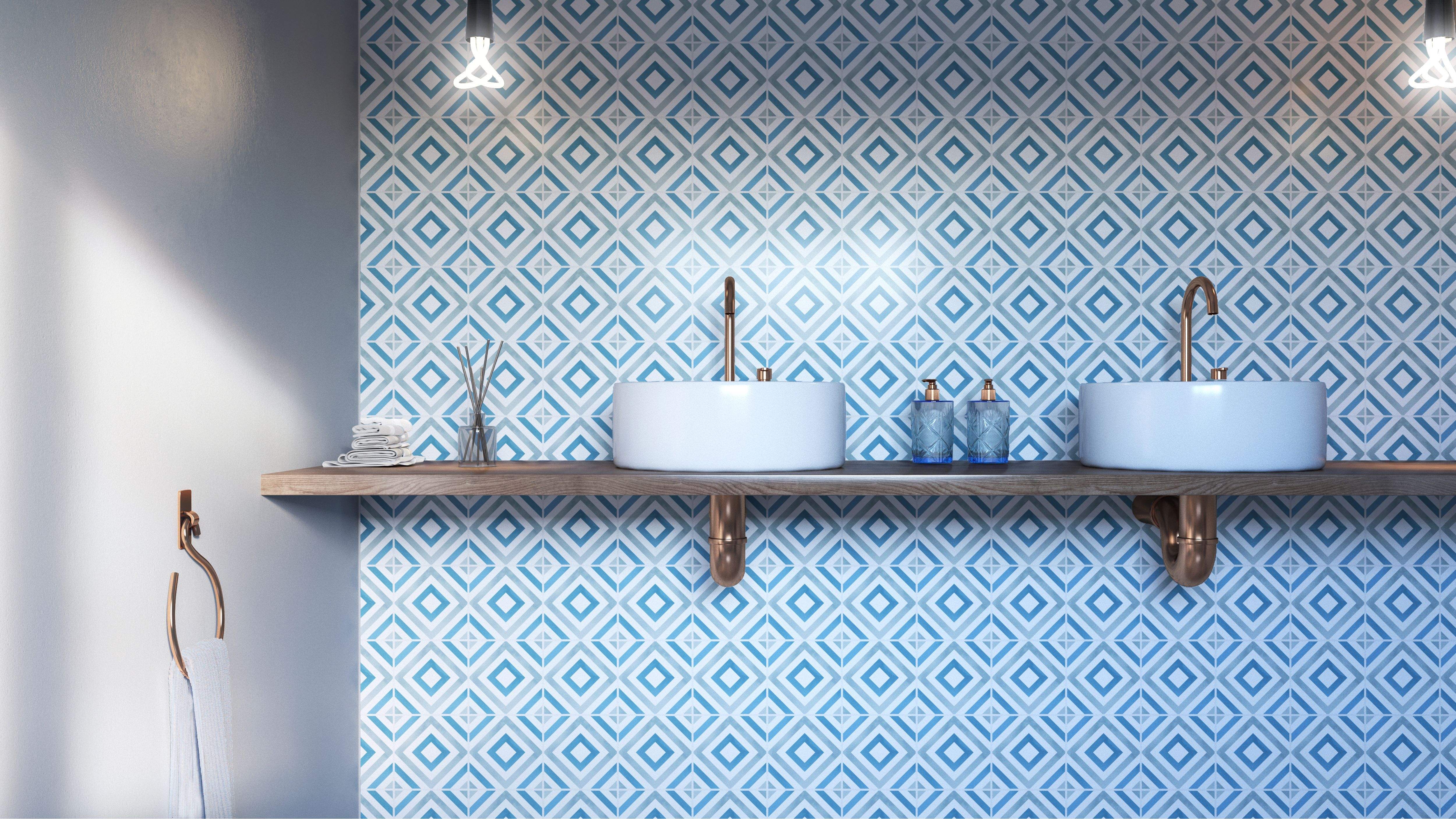 Bathroom essential: feature wall. Create a stunning ...