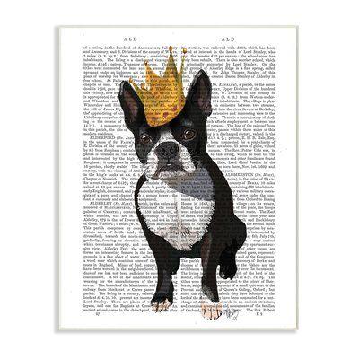 Stupell Industries Classic Novel Royal Terrier Puppy Wall Plaque Art