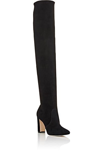 Manolo Blahnik Jewel-Embellished Velvet Knee-High Boots quality free shipping for sale outlet discount authentic discount wiki sale latest collections free shipping low price fee shipping OdKrFwj
