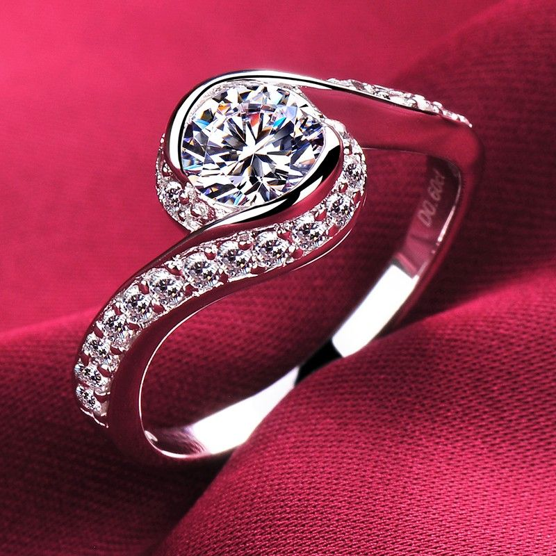 c660fce0006ce 0.4 Carat Simulated Diamond Engagement/Wedding/Promise Ring For Her ...