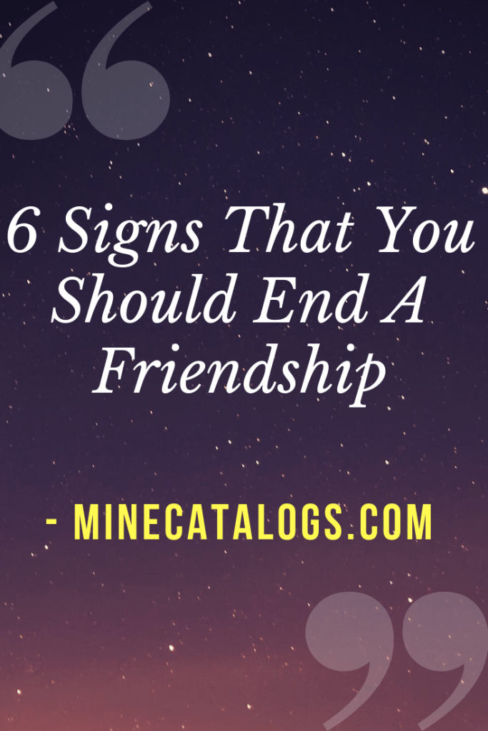 signs a relationship should end