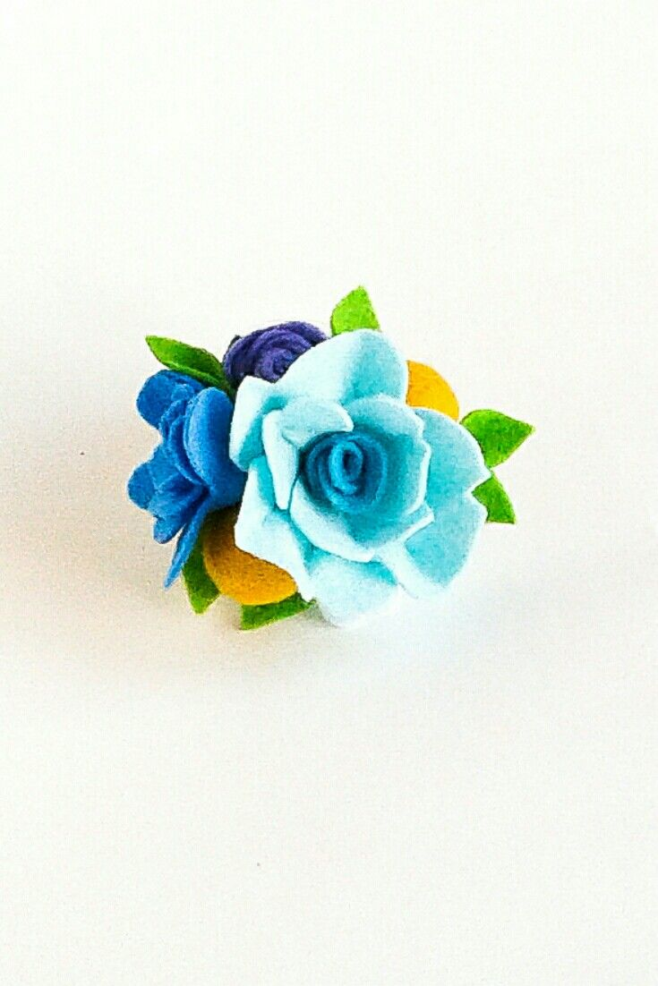Baby felt flower crown headband nylon Flower girl Newborn girl floral crown Toddler bithday Purple blue flowers girl crown 1st birthday