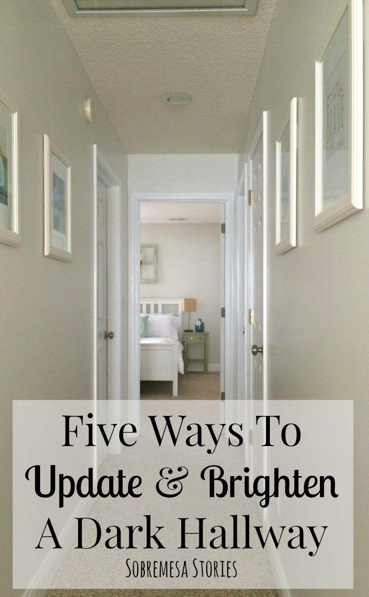 Narrow Hallways Color Ideas - Five ways to update and brighten a dark hallway brighten dark roomhallway inspirationhallway ideasnarrow hallway decoratinghallway