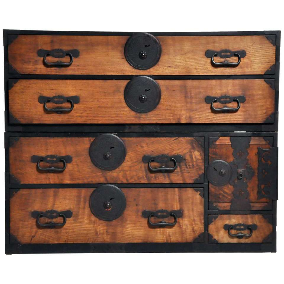 Japanese Tansu With Hand Forged Hardware Hand Forged Hardware Hand Forged Forging