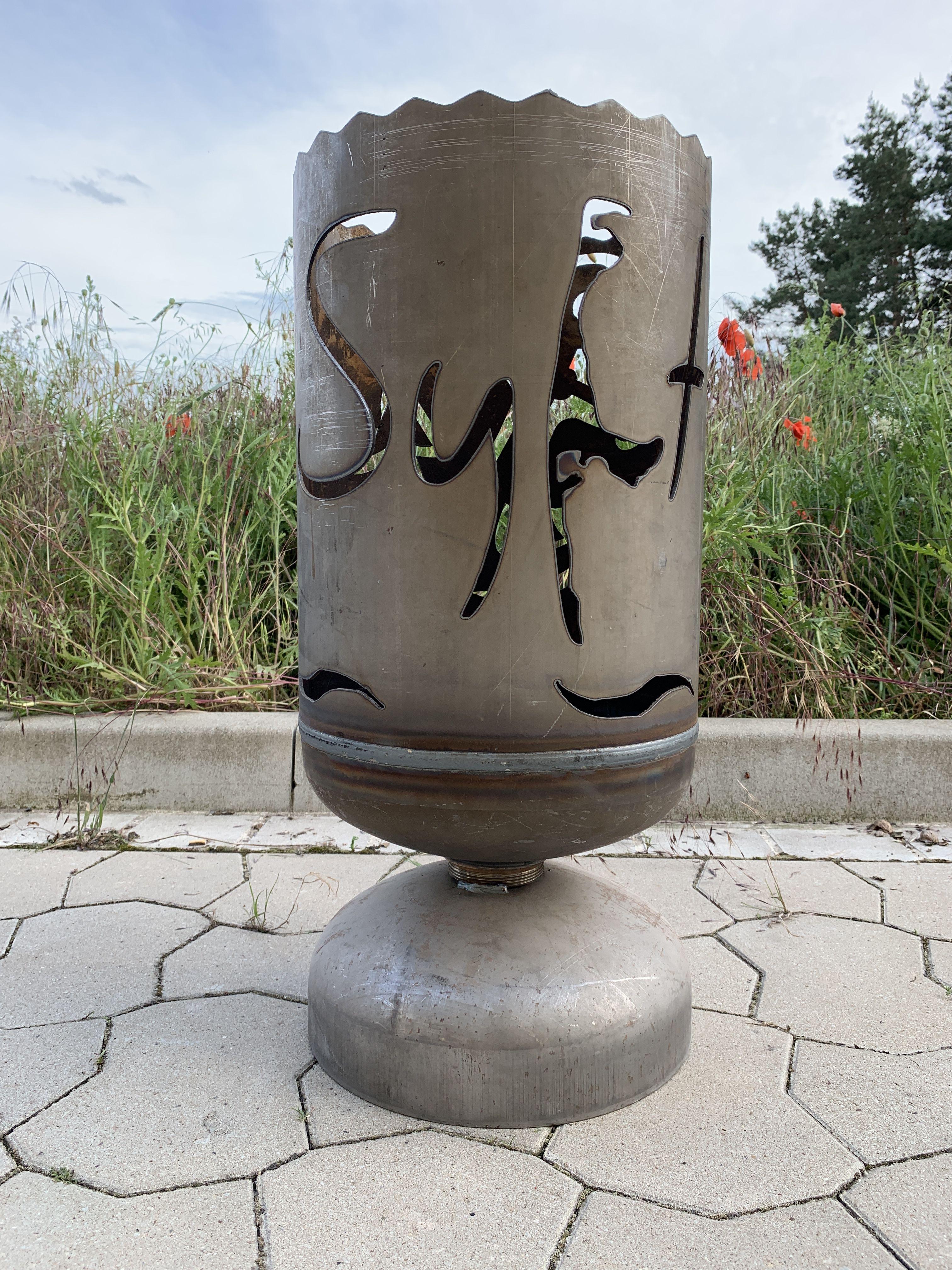 Feuerkorb Sylt Mit Anker Gasflasche Feuerkorb Gartenfeuer Korb