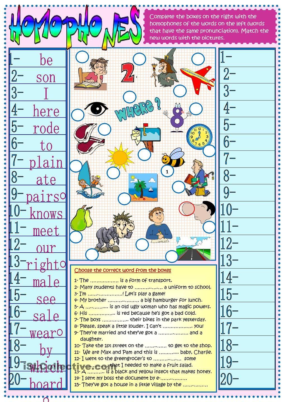 Homophones Homophones Teaching Vocabulary New Words [ 1440 x 1018 Pixel ]