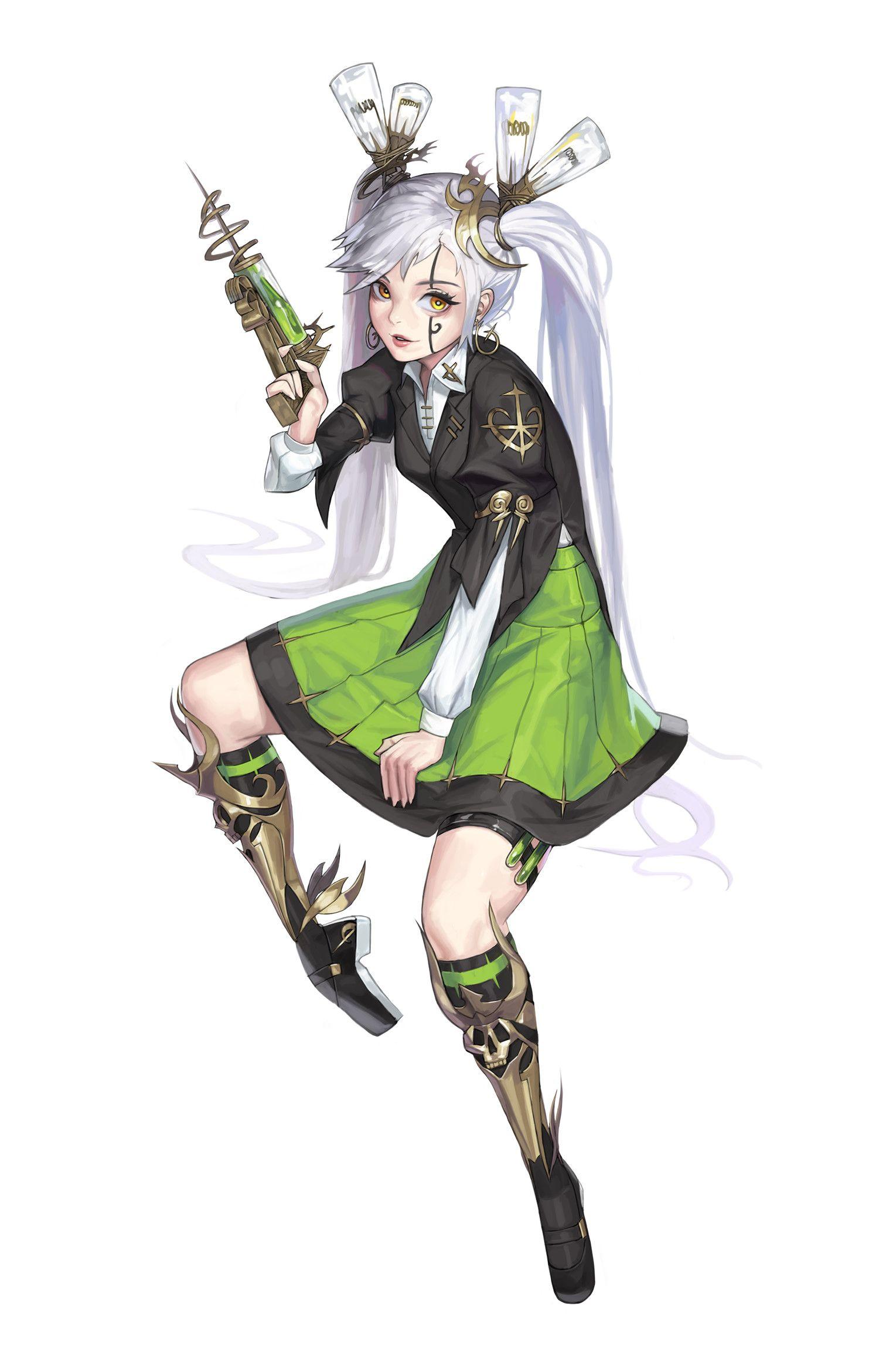 Swordsman Cotta Character Design Girl Anime Character Design