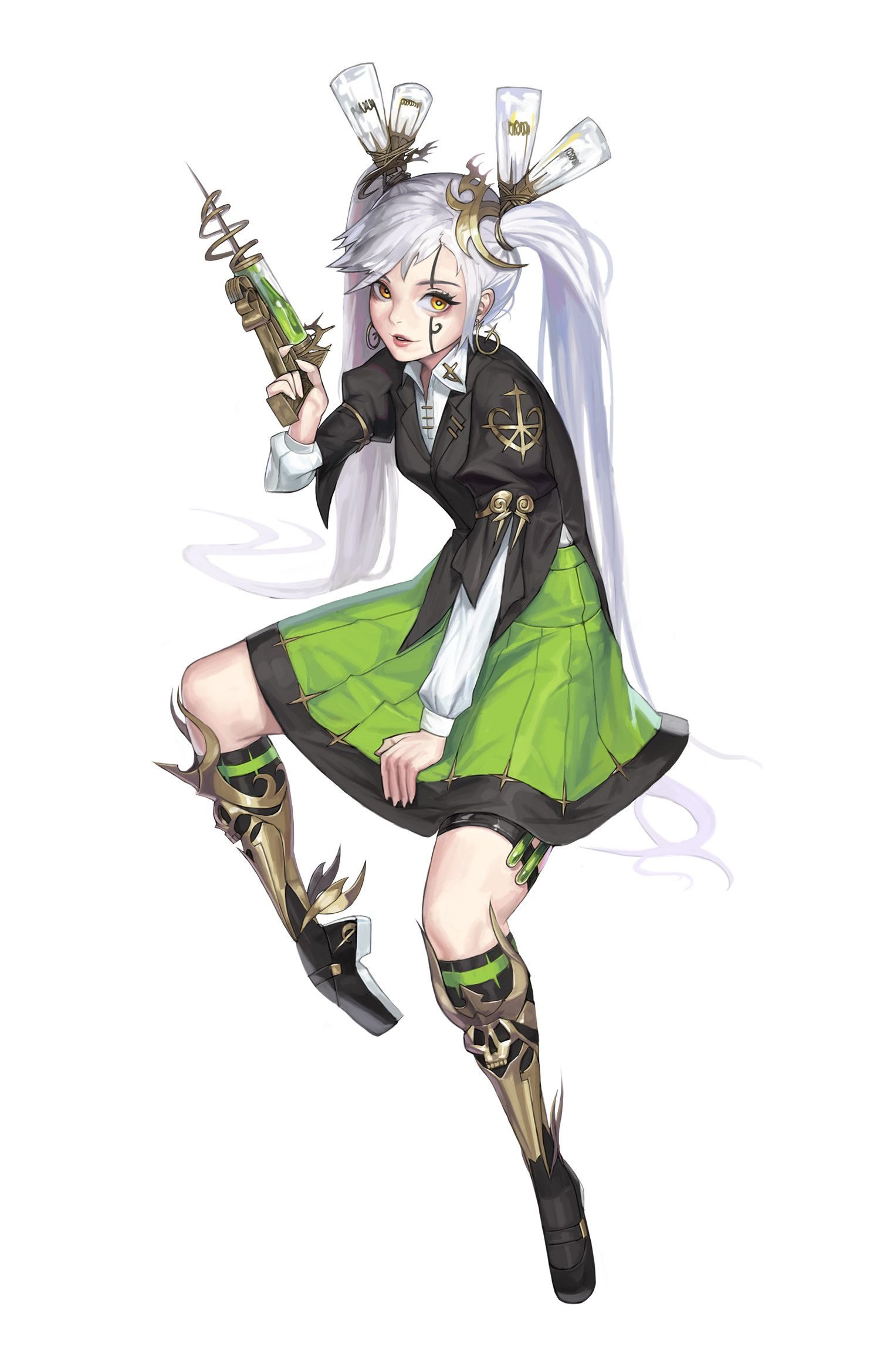 Swordsman Cotta Anime Character Design Scientist