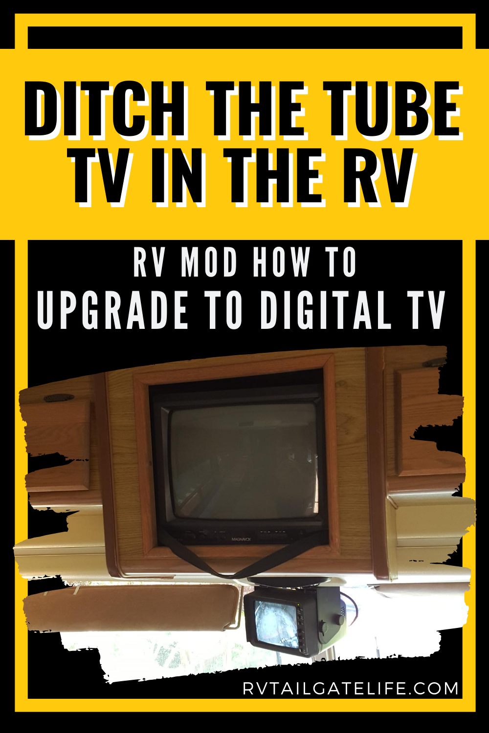 How To Upgrade To Digital Flat Screen Tv In The Rv Rv Tailgate Life In 2020 Rv Tv Rv Mods Rv
