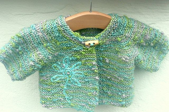 Ravelry: Simple Seamless Baby Jacket pattern by Katy Farrell