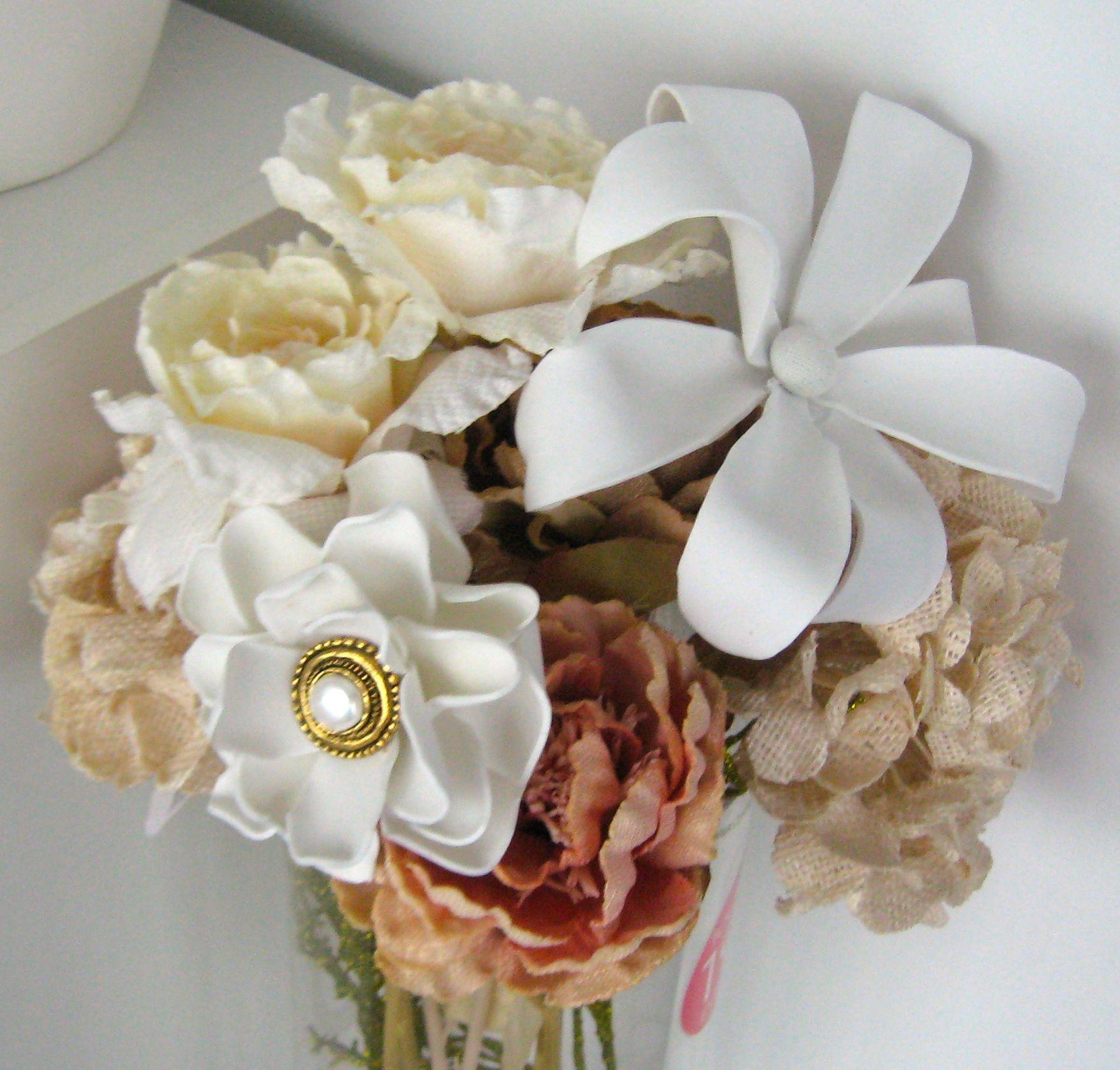 Created a Bride's Bouquet.