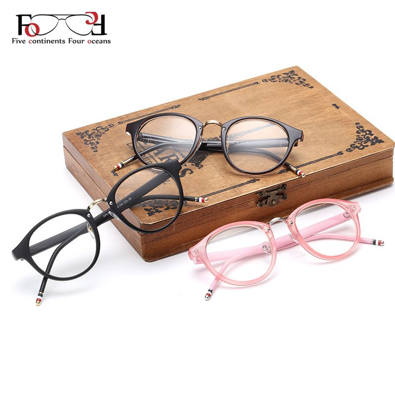Barato Tendência Vintage Design da marca simples homens mulheres óculos De  armação óculos redondos Optical quadro Retro óculos De Grau Femininos  Gafas, ... 6d59459b1f