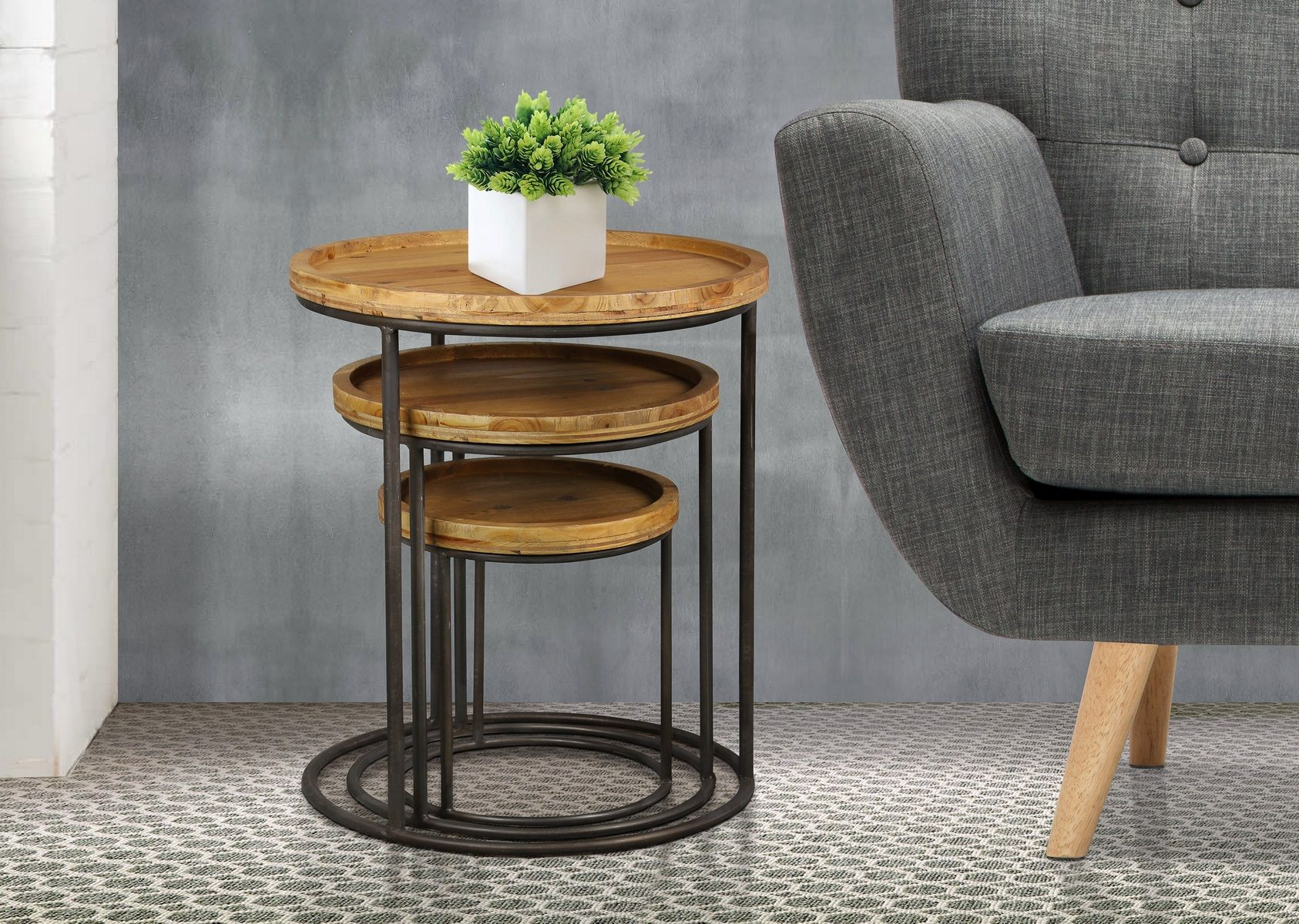Bergen Nest Of Tables Make Your Living Space Truly Flexible With Our Edgy Bergen Nest Of Tables Featuring A Large Medium Furniture Coffee Table Living Table