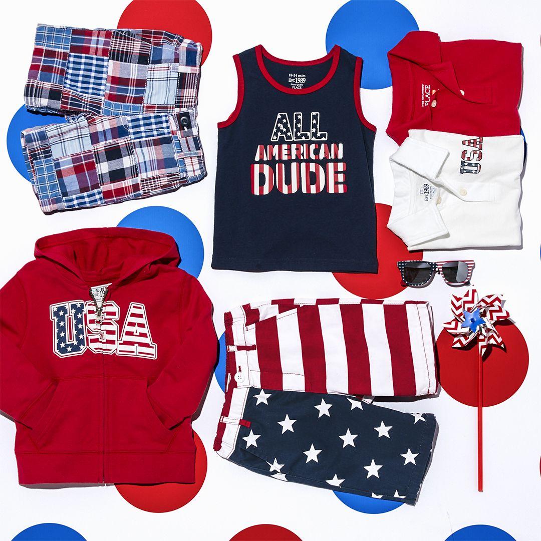 eafbd820c9e6ba0e79ac8134c5d4de41 boys' fashion kids' clothes all american dude tank top red,Childrens Clothes Usa