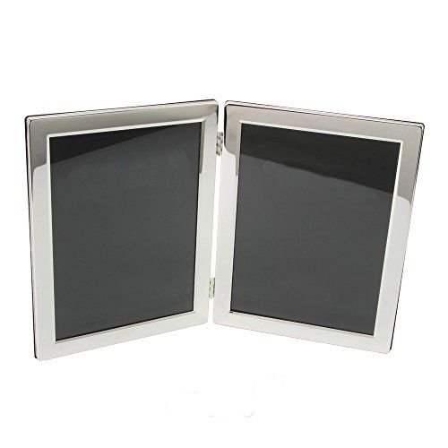 Silver Plated Luxury Hinged Double 8 X 10 Picture Frame By Haysom