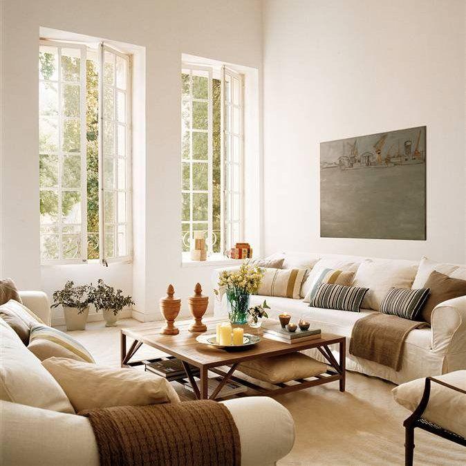 Salones peque os juega a favor del espacio ventanales - El mueble salones pequenos ...