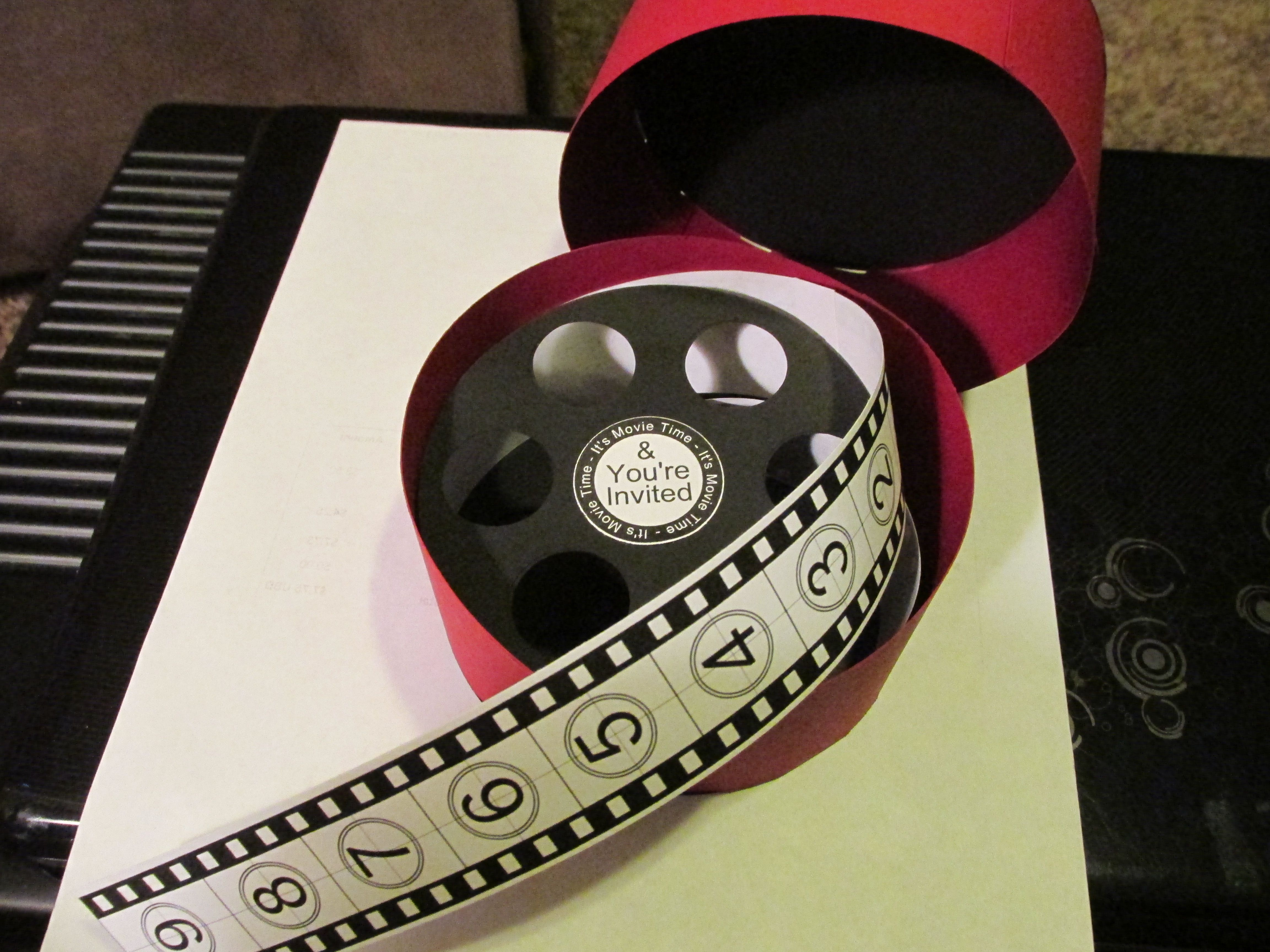 how to make film canister wedding invitations%0A This is the invitation i made on my Silhouette Cameo