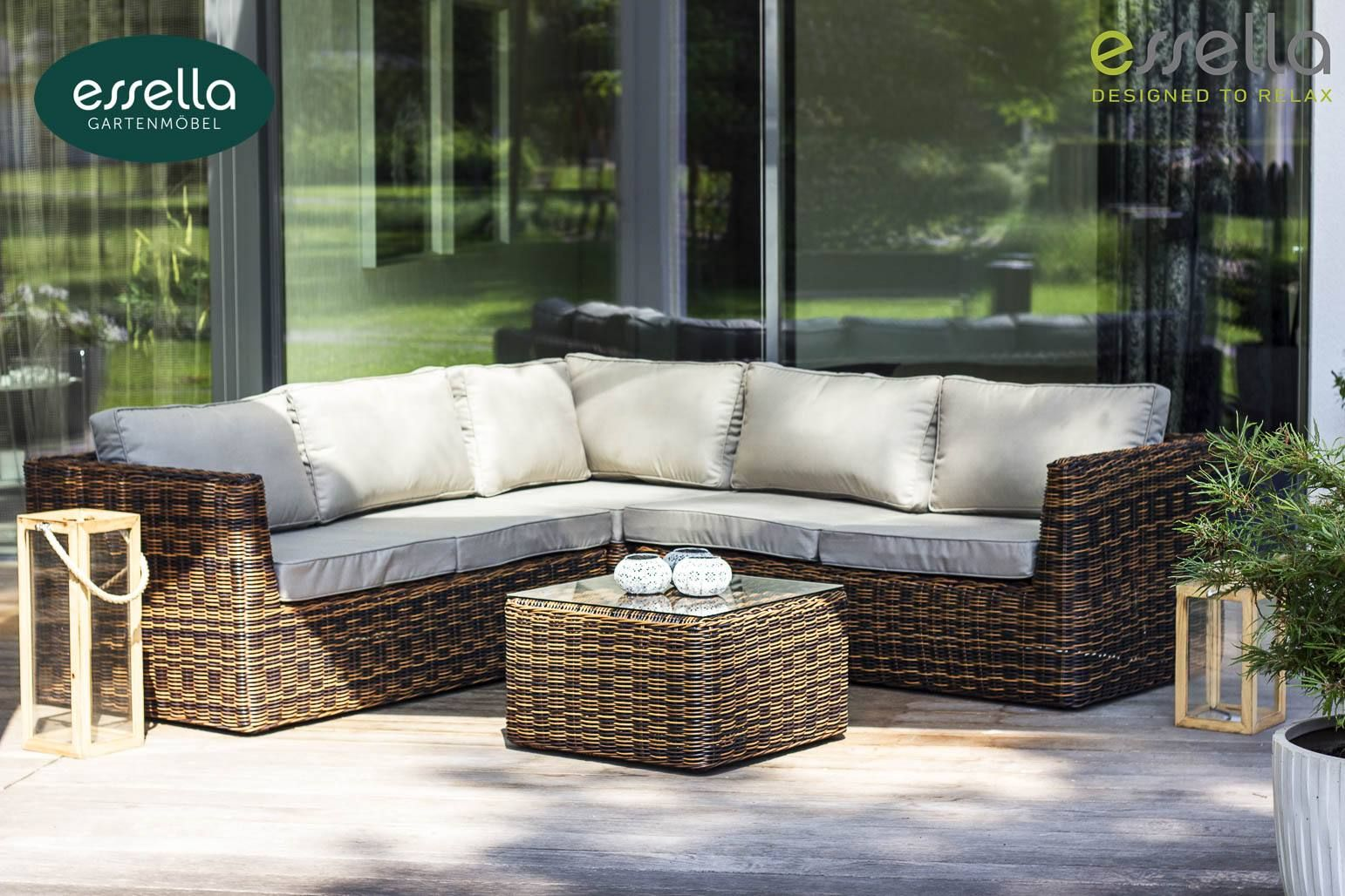 Loungemöbel Outdoor Essella Polyrattan Lounge Möbel Oslo Für 5 Pers In Rundgeflecht