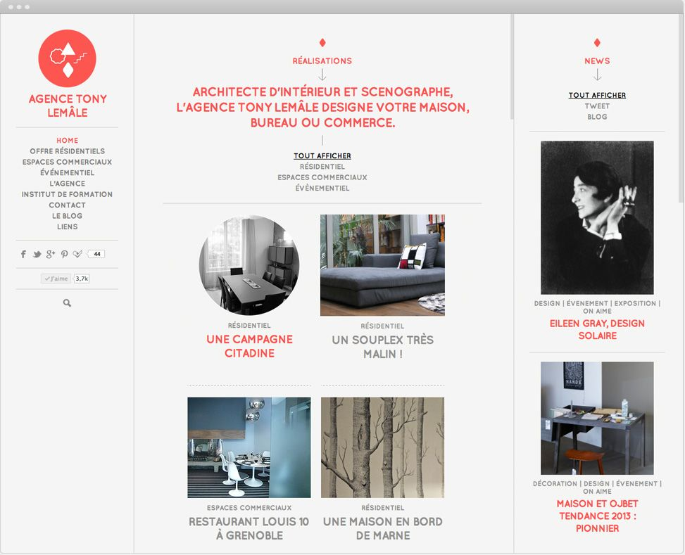 global visual identity for the Tony Lemâle Agency \u2013 Interior