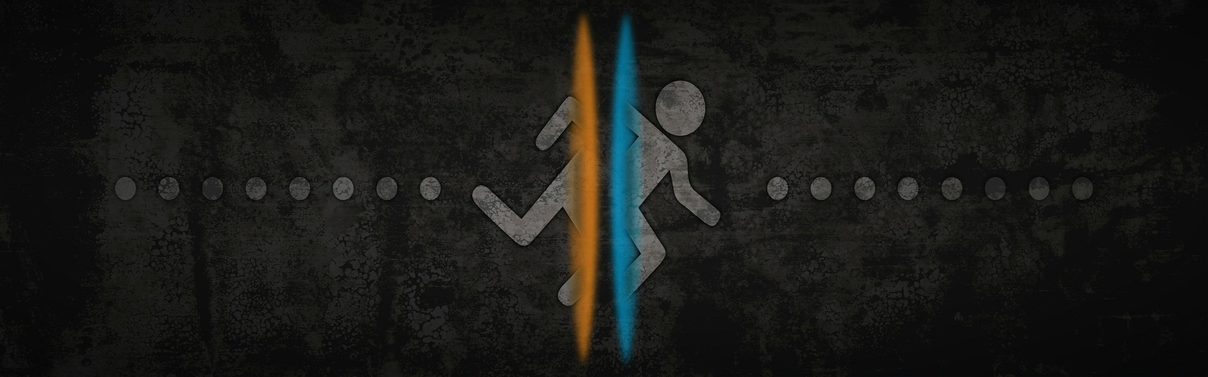 Just A Dual Monitor Portal Wallpaper I Made Enjoy And Feel Free