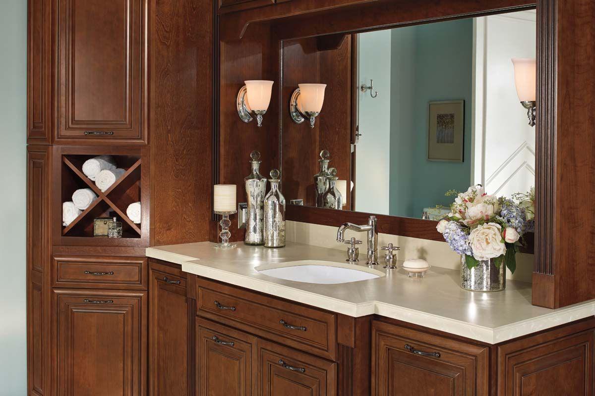 Elegant Warm Bathroom Vanity With Lots Of Storage Waypoint