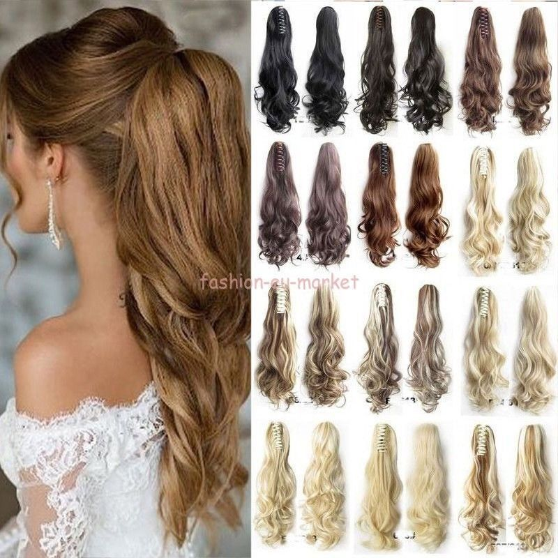 Thick Ponytail Clip In Hair Extension Claw Pony Tail Clip On Extensions As Real Clip In Ponytail Extensions Clip In Ponytail Clip In Hair Extensions