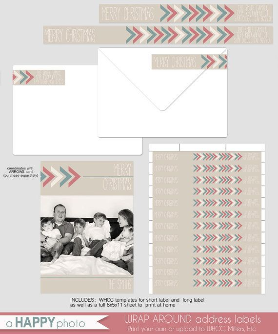 Arrows Wrap Around Address label, WHCC template address label - address label template