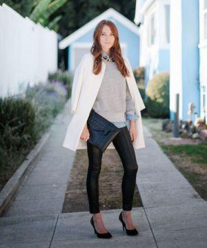 How to Dress Up An Old Sweatshirt — & Look Good