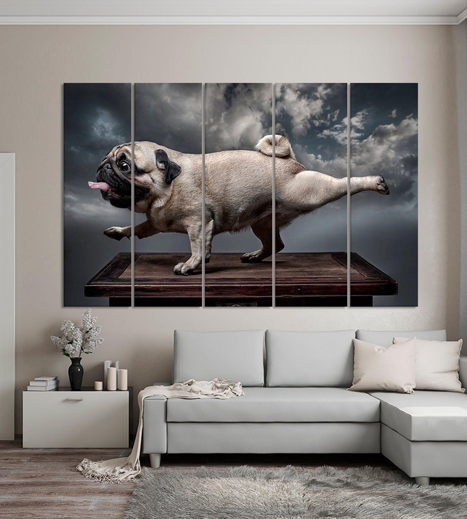 Dog Pug Canvas Print Dog Pug Wall Art Pug Modern Print Pug Etsy Animal Canvas Art Animal Canvas Canvas Prints