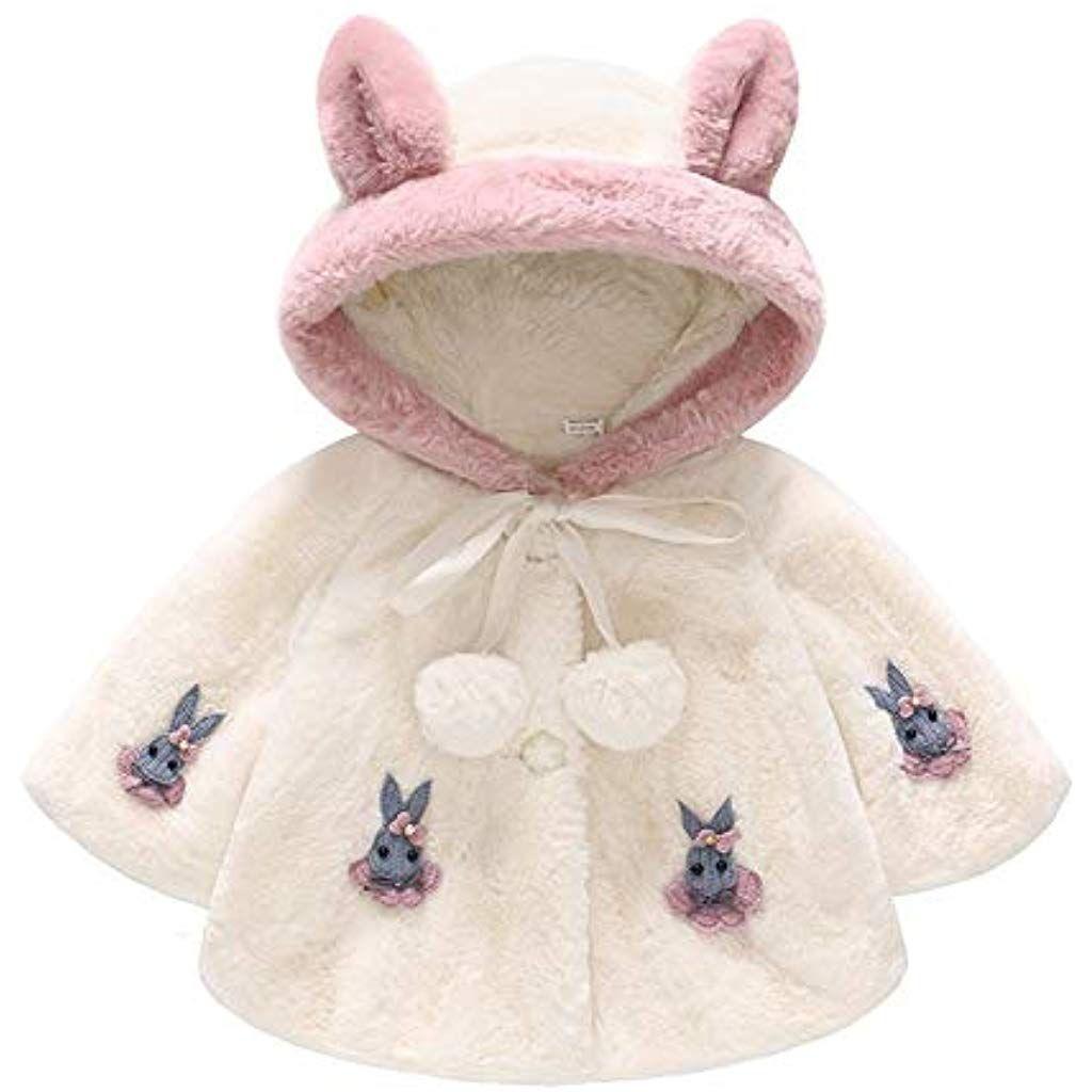 Robemon✬Hiver No/ël Blouson Manteau Chaud Enfant Fille Doudoune Capuche Outwear Manches Cape Outwear