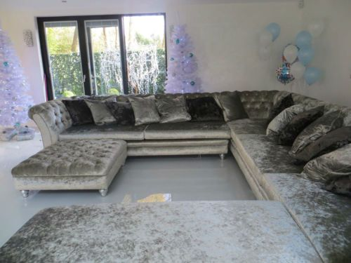 Crushed Velvet Corner Sofa L Shape Sofa U Shape Sofa Designer James And Rose U Shaped Sofa Velvet Corner Sofa Living Room Sofa