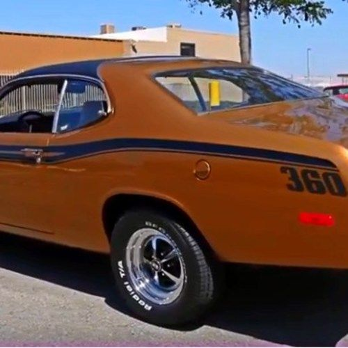 Sexy 1973 Plymouth Gold Duster Tribute