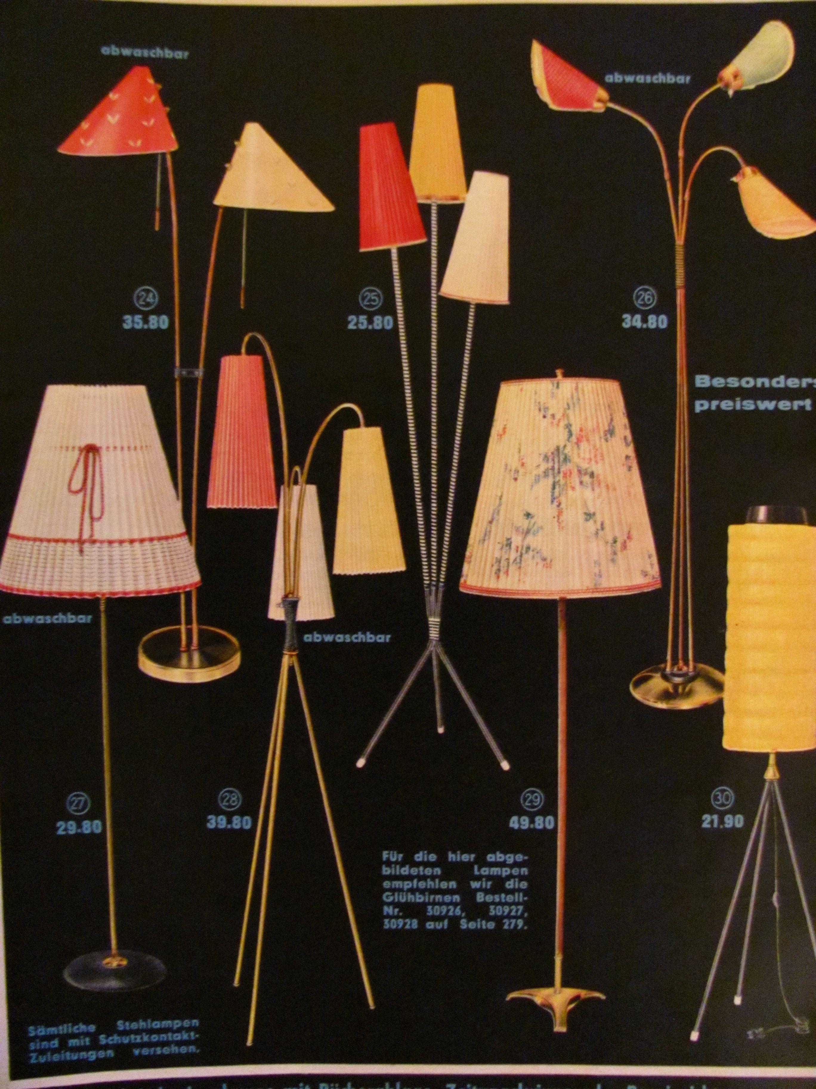 New Quelle Katalog T tenlampe Wirtschaftswunder F nfziger Jahre