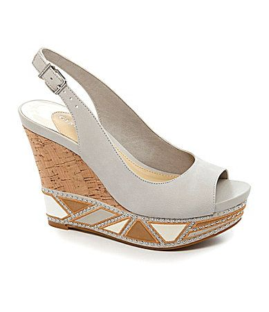 ec67e1e1231 Gianni Bini Tisa Embroidered Wedges  Dillards