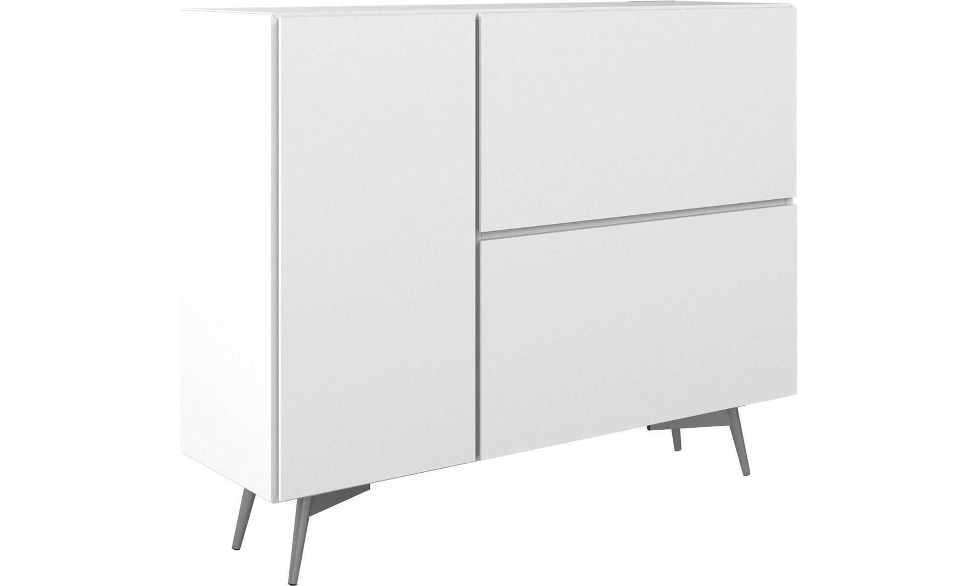 White Sideboards For Living Room Showcase Pictures India Lugano Highboard With Drop Down Doors And Drawer Lacquered