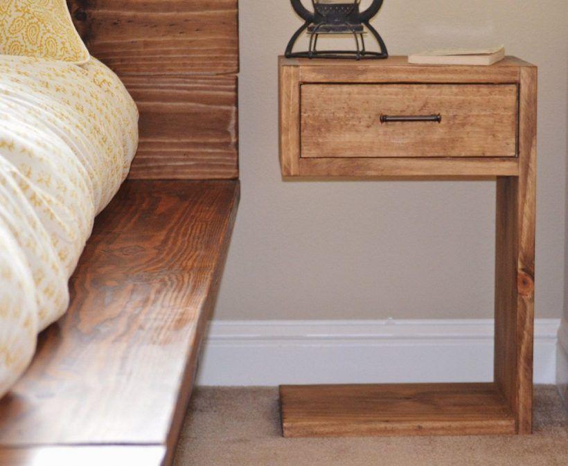 Creative And Brilliant Diy Nightstand Ideas For Your Bedroom Rustic Bedroom Diy Diy Platform Bed Rustic Nightstand