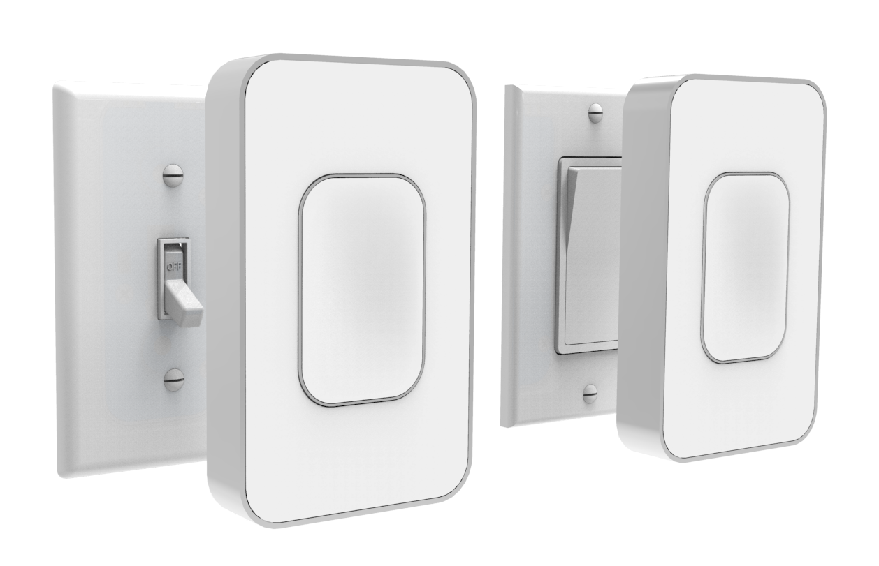 Switchmate snaps over your standard light switch making it a