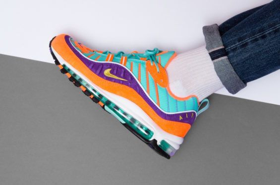 Look For This Nike Air Max 98 Cone Hyper Grape Soon Celebrating the 20th  anniversary of the Nike Air Max 98 this year are brand new colorways … |  Pinterest