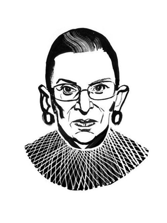Notorious Rbg Ruth Bader Ginsburg Art Print Wall Art Etsy Etsy Wall Art Art Art Prints