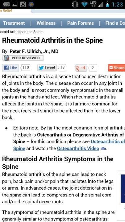 I have arthritis in my spine.