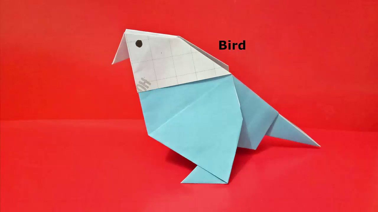 How to make a 3d bird out of paper easy