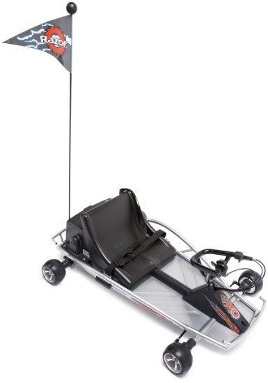 Amazon com: Razor Ground Force Electric Go-Kart (Silver): Sports