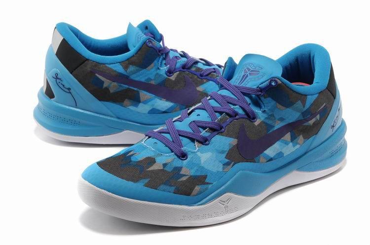 buy online ca50a e6872 Kobe Viii Shoes 2013 Elite Chlorine Blue Purple Black White 555035 003. Nike  ...