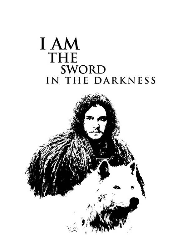 Game Of Thrones Jon Snow Winter Has Come Large Poster Wall Art Print