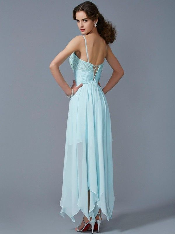 Asymmetrical Chiffon Evening Dresses