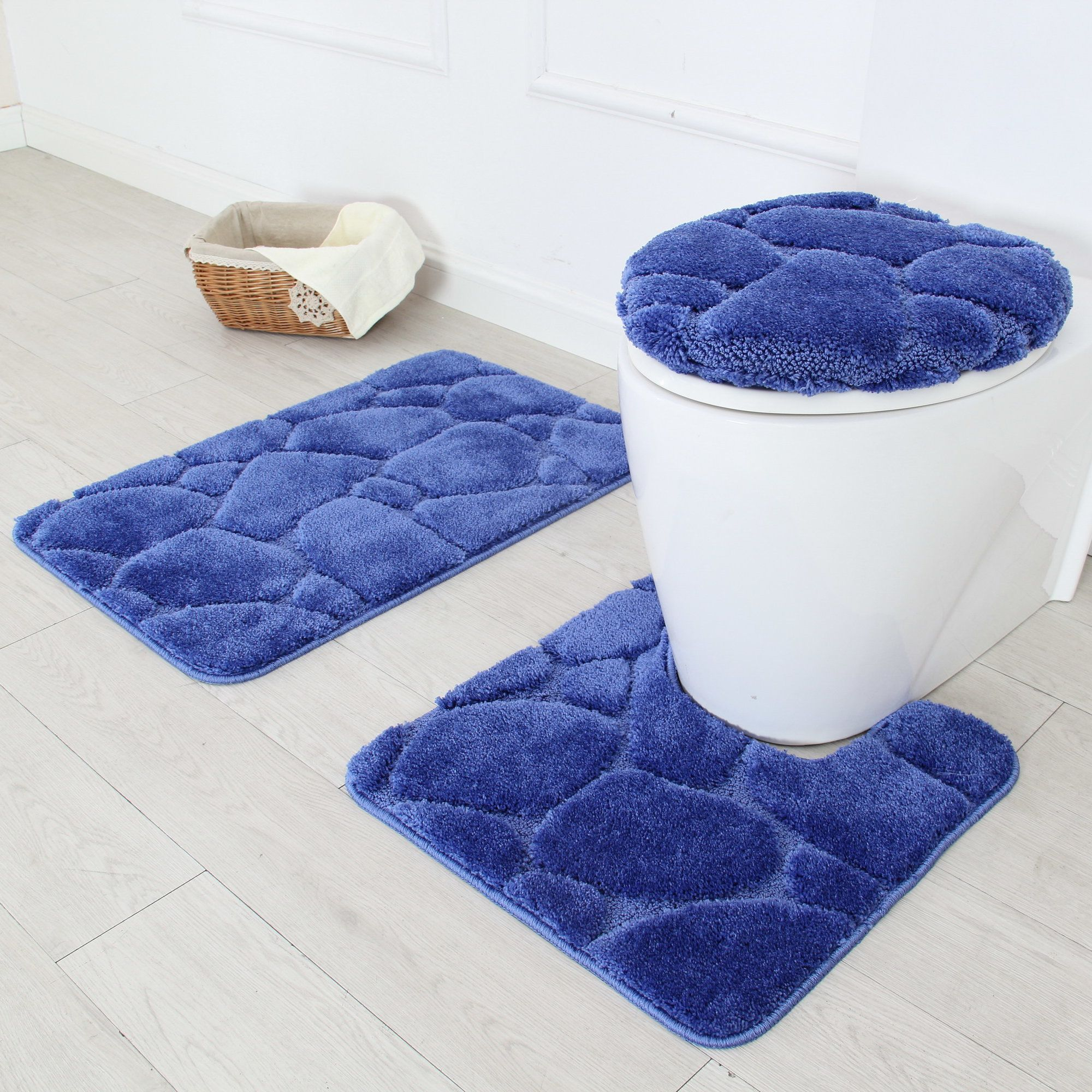 River rock piece bath rug set bath rugs and products